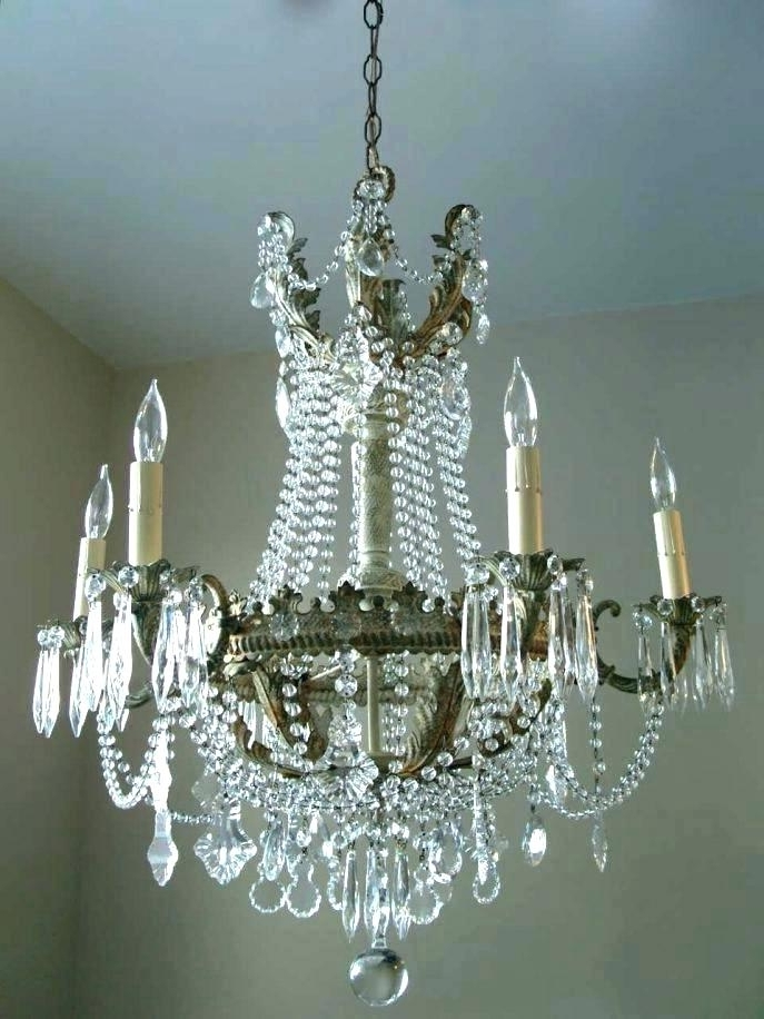 Shabby Chic Crystal Chandeliers Plus Shabby Chic Mini Chandelier Pertaining To Favorite Small Shabby Chic Chandelier (View 5 of 10)