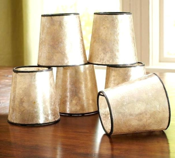 Small Clip On Lamp Shades For Chandelier Saving Space Mini Within Famous Clip On Drum Chandelier Shades (View 8 of 10)