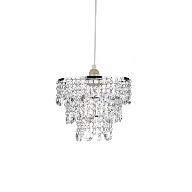 Small Easy To Fit Crystal Chandelier, Non Electric, Cascading Droplets With Regard To Recent Small Chrome Chandelier (View 9 of 10)