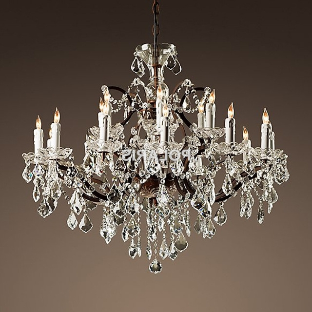 Small Rustic Crystal Chandeliers Throughout Well Known Vintage Rustic Crystal Chandelier Lighting Candle Chandeliers (View 9 of 10)