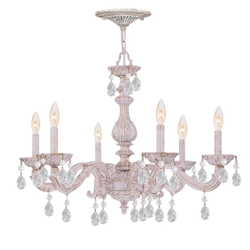 Small Shabby Chic Chandelier For Best And Newest Lamp Chandelier Shabby Chic – Closdurocnoir (View 7 of 10)