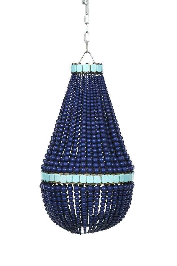 Small Turquoise Beaded Chandeliers In Most Up To Date Blue Beaded Chandelier Blue Wood Beaded Chandelier Blue Beaded (View 5 of 10)