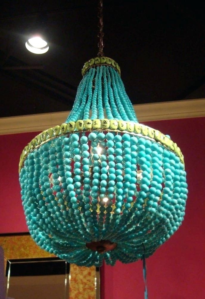 Small Turquoise Beaded Chandeliers With Regard To Widely Used Beaded Turquoise Chandelier The Best Beaded Chandelier Ideas On Bead (View 7 of 10)