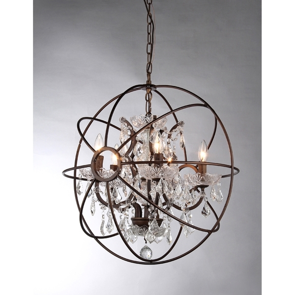 Sphere Chandelier Intended For Preferred Warehouse Of Tiffany Planetshaker Antique Bronze Spherical (View 8 of 10)