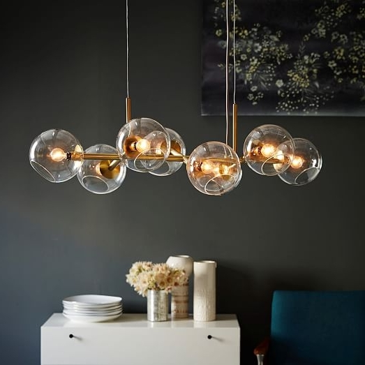 Staggered Glass Chandelier – 8 Light (View 2 of 10)