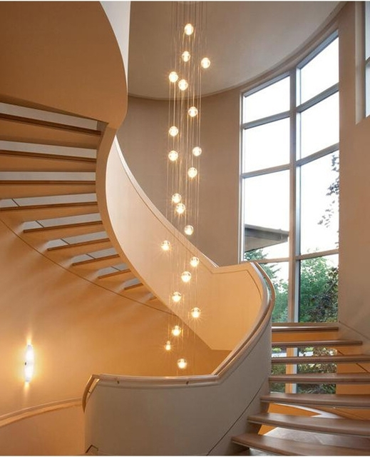 Stairwell Chandelier Lighting Pertaining To Preferred Phube Lighing Led Meteor Shower Crystal Chandelier Light Fixtures (View 8 of 10)