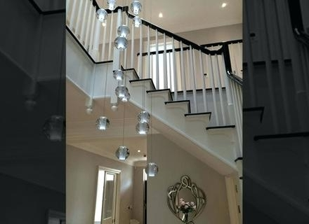 Stairwell Chandeliers Throughout Most Current Stairwell Chandelier Lighting Also Long Stairwell Chandeliers Modern (View 6 of 10)