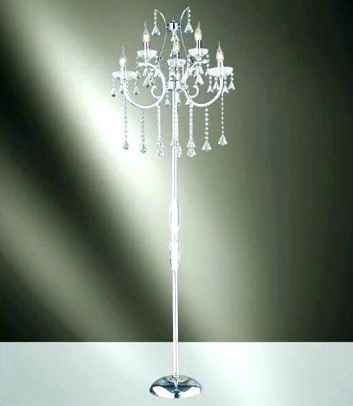 Standing Chandelier Floor Lamps Regarding Fashionable Standing Chandelier Floor Lamp (View 9 of 10)