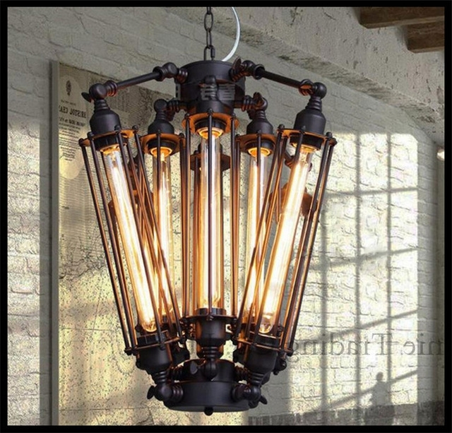 Steam Punk Big 8Pcs E27 T30 Edison Bulbs Lights Chandeliers Art Deco For Most Recently Released Large Art Deco Chandelier (View 8 of 10)