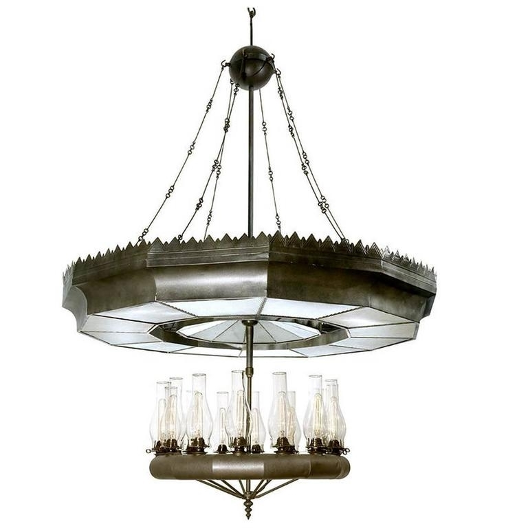 Super Rare Bailey Fourteen Light Mirror Reflector Chandelier For Pertaining To Famous Mirror Chandelier (View 10 of 10)