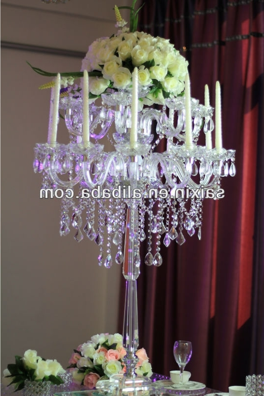 Table Chandeliers Throughout Well Known Gorgeous Table Top Chandelier Centerpieces For Weddings – Buy (View 8 of 10)