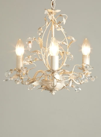 Tahlia 3 Light Chandelier – Cream Gold – Ceiling Lights – Lighting With Trendy Cream Chandeliers (View 3 of 10)
