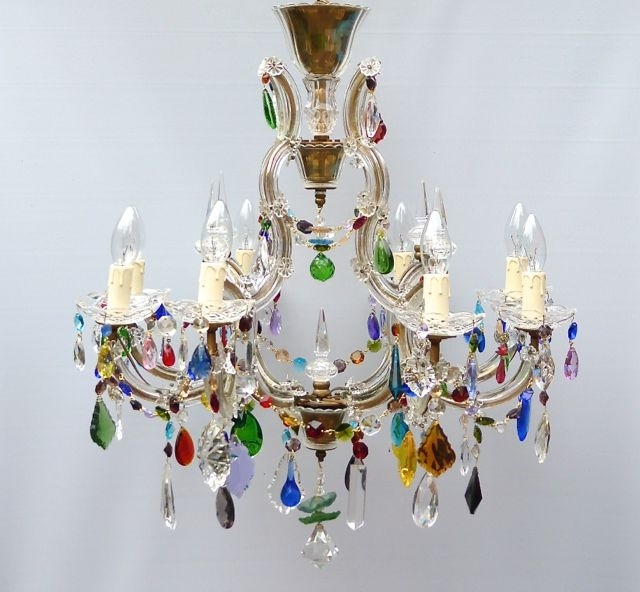 The Vintage Chandelier Companymulti Coloured Archives – The Vintage Regarding Most Popular Coloured Chandeliers (View 8 of 10)