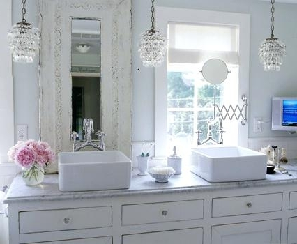Top Small Chandeliers For Bathrooms Lighting Your Bathroom While Regarding Recent Mini Chandelier Bathroom Lighting (View 10 of 10)