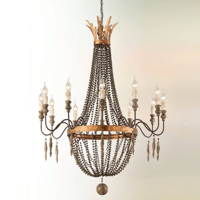 Traditional Chandelier Throughout Well Liked Traditional Chandelier / Iron / Incandescent / Handmade – Interior (View 3 of 10)