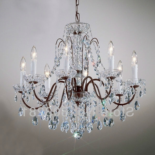 Traditional Crystal Chandeliers Regarding Most Popular Classic Traditional Chandelier Atn2353 8 Light, Pellucid Crystal (View 7 of 10)