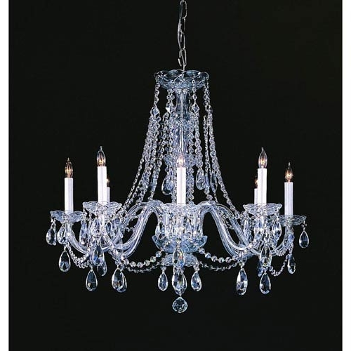 Traditional Crystal Chandeliers Regarding Newest Crystorama Lighting Group Traditional Crystal Polished Chrome Eight (View 5 of 10)