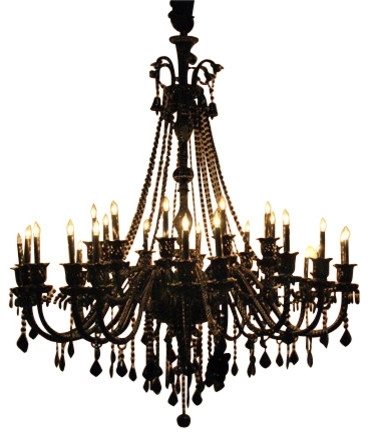 Trendy Black Iron Crystal Round Chandelier Regarding And Chandeliers Within Black Chandeliers (View 8 of 10)