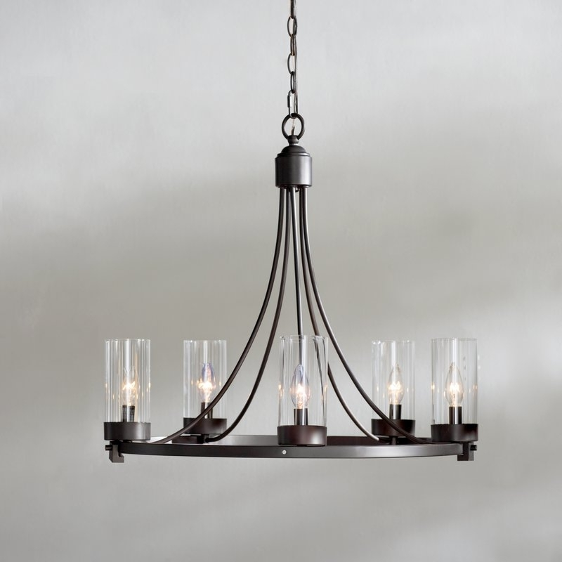 Trendy Candle Look Chandeliers Regarding Levan 5 Light Candle Style Chandelier & Reviews (View 7 of 10)