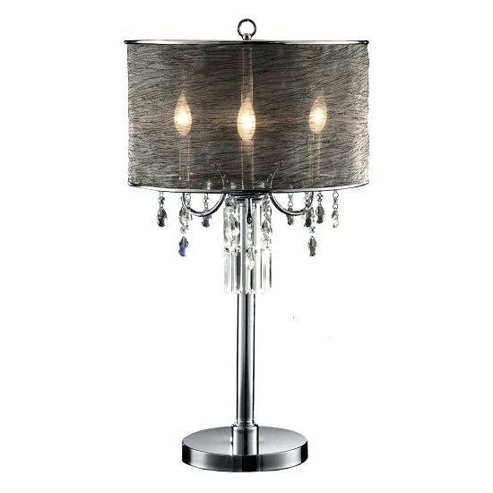 Trendy Chandelier Night Stand Lamp Chrome Round Crystal Chandelier Bedroom Pertaining To Chandelier Night Stand Lamps (View 10 of 10)