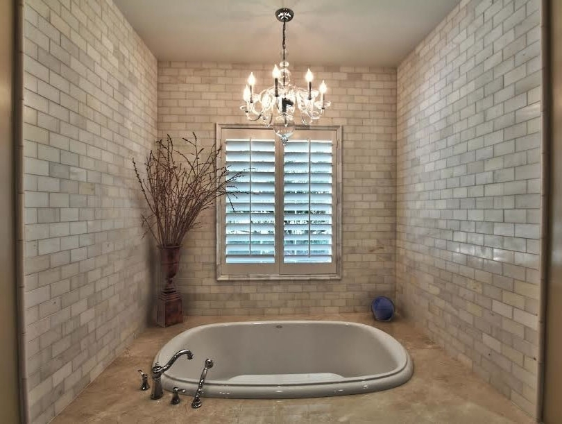Trendy Chandeliers For The Bathroom Pertaining To Elegance And Glamour Bathroom Chandeliers Ideas — Top Bathroom (View 8 of 10)