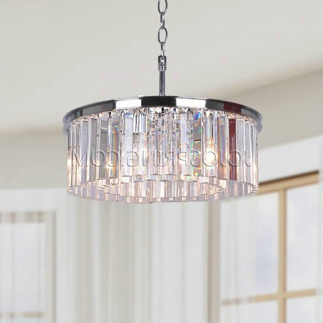 Trendy Chrome And Glass Chandelier Intended For Justina 5 Light Chrome Chandelier With Crystal Glass Prisms (View 6 of 10)