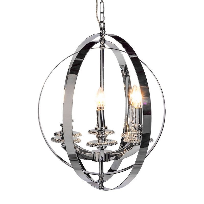 Trendy Chrome Sphere Chandelier – Large Throughout Sphere Chandelier (View 2 of 10)