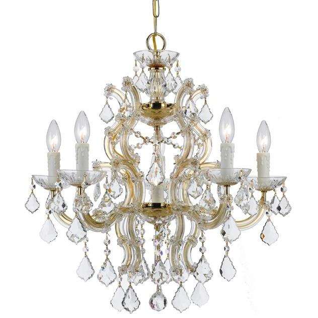 Trendy Crystorama – Crystorama Maria Theresa 6 Light Crystal Gold Chandelier For Crystal Gold Chandelier (View 3 of 10)