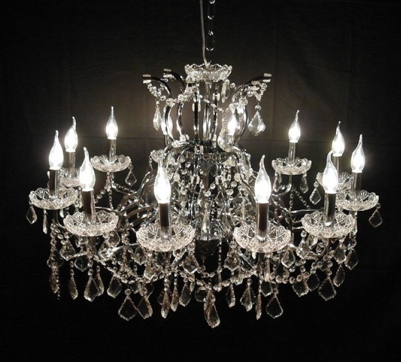 Trendy French Glass Chandelier With Large French Vintage Antique Style 12 Branch Crystal Cut Glass (View 9 of 10)