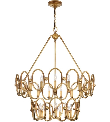 Featured Photo of Gold Leaf Chandelier
