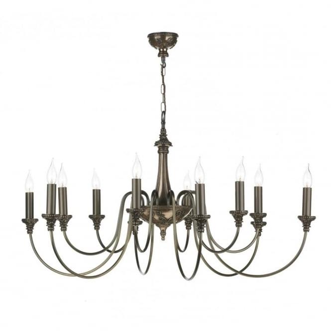 Trendy Large Bronze Chandelier, David Hunt Lighting, Long Drop Light With Large Bronze Chandelier (View 10 of 10)