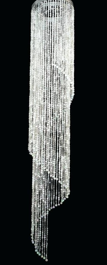 Trendy Long Chandelier Light With Long Chandelier Lights And Super Sized Beaded Spiral Chandelier Long (View 5 of 10)