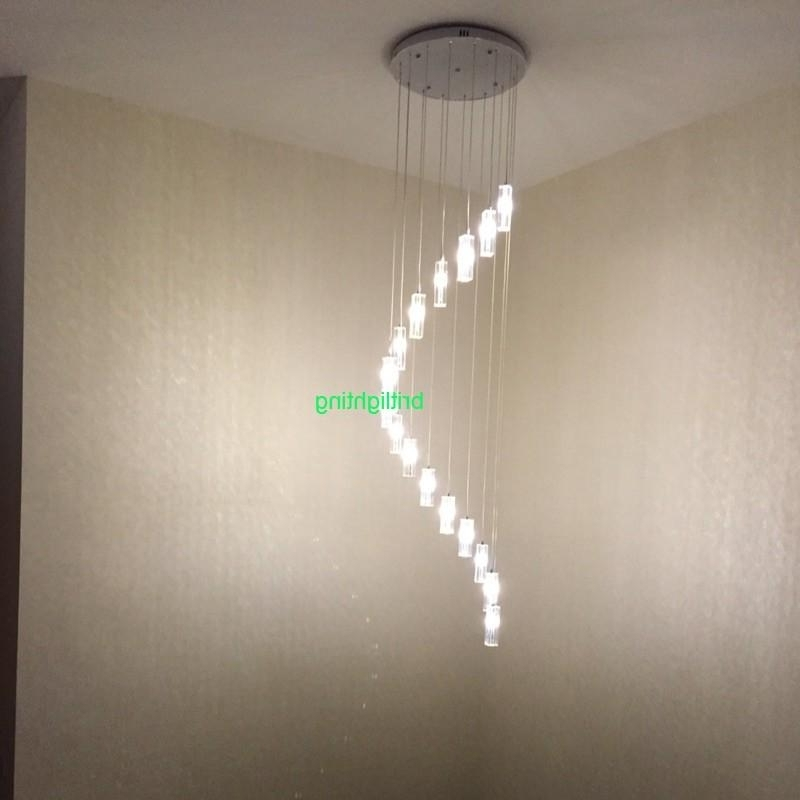 Trendy Long Crystal Chandelier Stair Spiral Crystal Chandelier Lighting Intended For Long Chandelier (View 8 of 10)