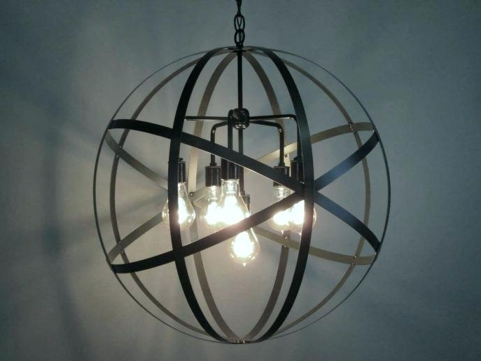 Trendy Metal Ball Chandelier Metal Orb Chandelier Metal Ball Candle In Metal Ball Candle Chandeliers (View 5 of 10)