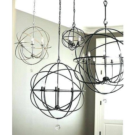 Trendy Metal Sphere Chandelier With Regard To Metal Sphere Chandelier – Stgrupp (View 7 of 10)