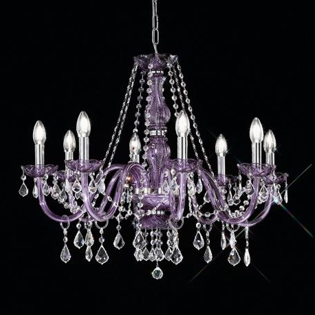 "Trendy Purple Crystal Chandeliers Within Brindisi"" Venetian Crystal Chandelier – Murano Glass Chandeliers (View 10 of 10)"