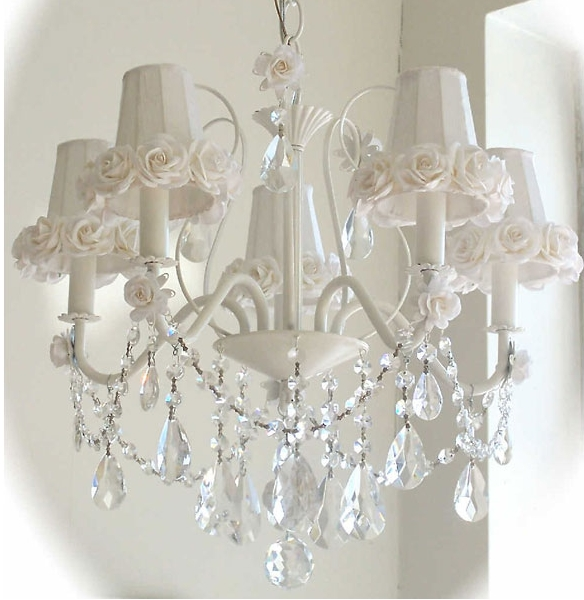 Trendy Shabby Chic Chandeliers Intended For Decorating Shabby Chic With Black, Cream And Rose Colors (View 2 of 10)