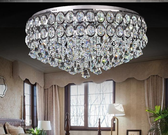 Trendy Short Chandeliers Within Modern Crystal Chandelier Led Ceiling Light Pendant Lamp Fixture (View 7 of 10)