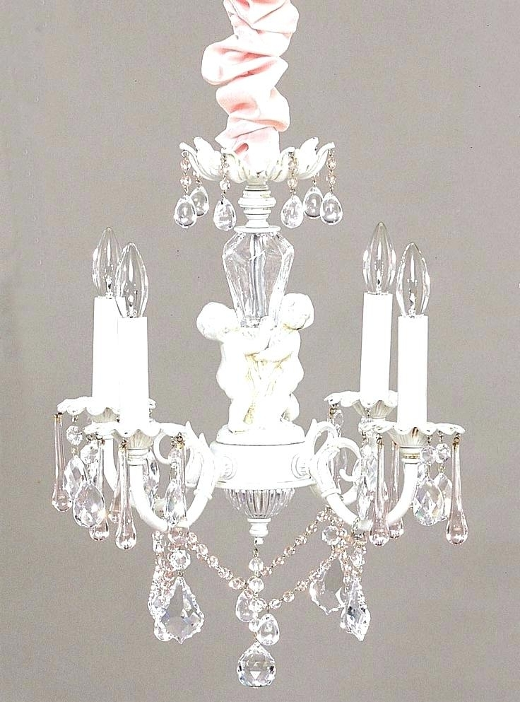 Trendy Small Chandelier For Nursery Shabby Chic Mini Chandelier With Best Inside Mini Chandeliers For Nursery (View 9 of 10)