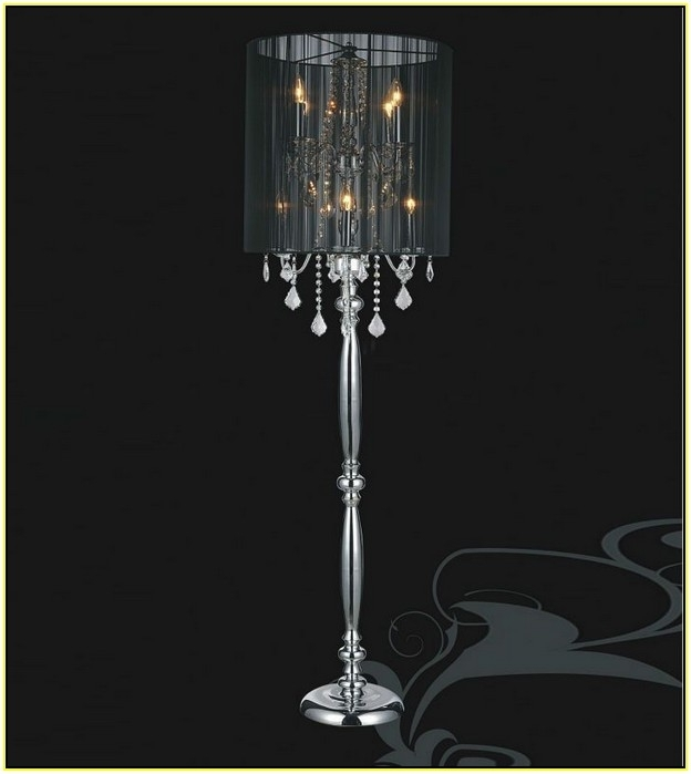 Trendy Tall Standing Chandelier Lamps With Regard To Standing Chandelier Floor Lamp Home Design Ideas Pertaining To (View 3 of 10)