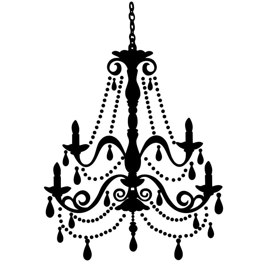 Trendy White Chandelier Clip Art Black Clipart Intended For Elegant Home Throughout Clip On Chandeliers (View 9 of 10)