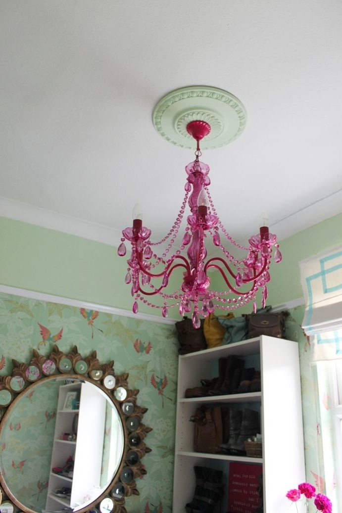 Turquoise And Pink Chandeliers Intended For Most Current 12 Best Chandeliers For The Girls Room Images On Pinterest (View 10 of 10)
