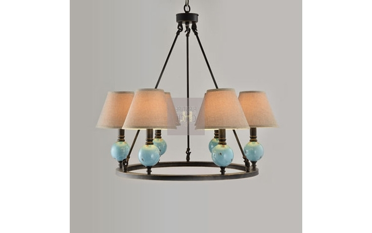 Turquoise Ball Chandeliers Inside Fashionable Chandelier With Six Shades Ball Base Turquoise (View 6 of 10)