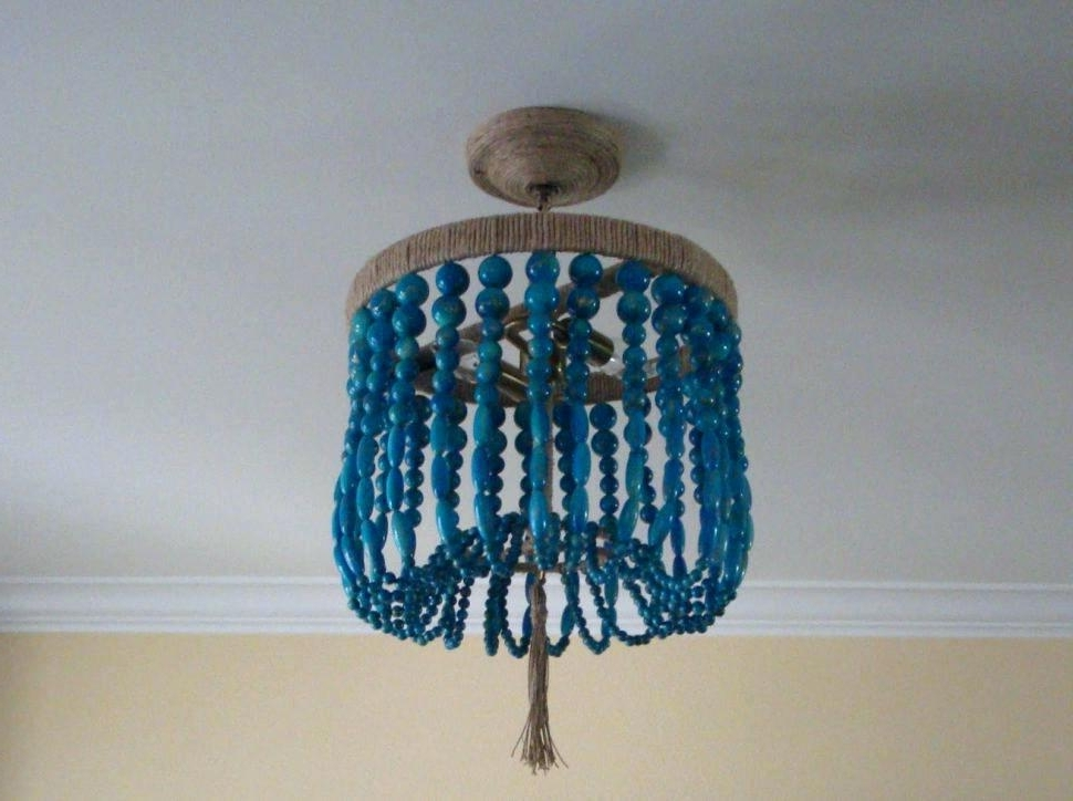 Turquoise Beaded Chandelier Blue Beaded Chandelier S W T Turquoise In Most Popular Turquoise Beads Six Light Chandeliers (Gallery 8 of 10)