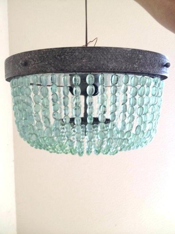 Turquoise Beaded Chandelier Light Fixtures In Most Popular Turquoise Beaded Chandelier Turquoise Beaded Chandelier Light (View 9 of 10)