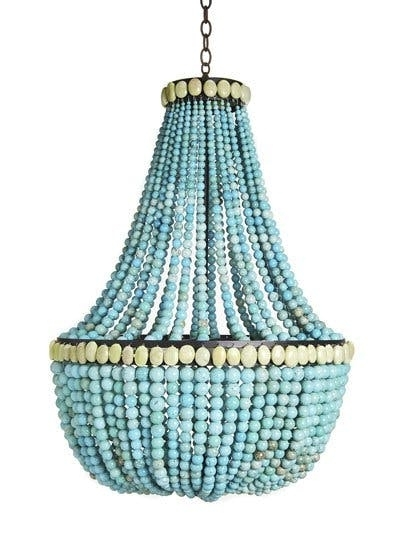 Turquoise Beaded Chandeliers High Amp Diy Apartment Therapy For Well Liked Small Turquoise Beaded Chandeliers (View 8 of 10)