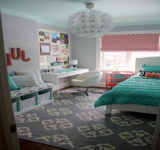 Turquoise Bedroom Chandeliers For Most Up To Date Chandelier For Teenage Girl Bedroom Marvelous 50 Turquoise Room (View 4 of 10)