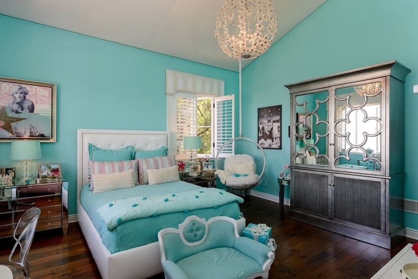 Turquoise Bedroom Chandeliers Regarding Most Recent Turquoise Girls Bedroom Ideas Memsaheb Pertaining To Elegant House (View 5 of 10)