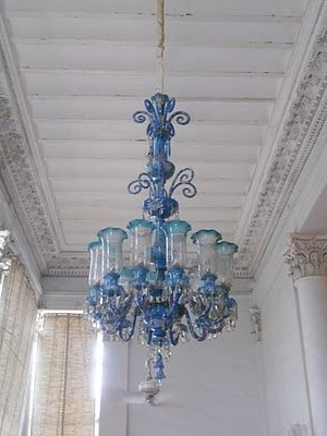 Turquoise Blown Glass Chandeliers For Fashionable Opulent Turquoise Blown Glass Chandelier (View 9 of 10)