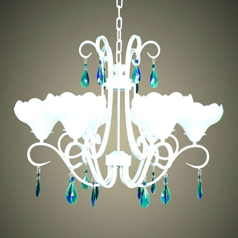 View Photos Of Turquoise Chandelier Crystals Showing Of Photos - Chandelier crystals blue